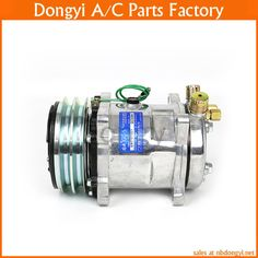 A/C AC Air Conditioning Compressor SD508 5H14 12V 2A V Belt Pulley Tractor Excavator Heavy Duty Truck Pickup Universal #Affiliate
