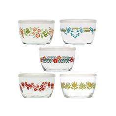 Love these Vintage Storage Bowls With Lids - Set of 5 from dotandbo.com