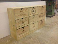 Wine Crate bookcase