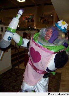 """Buzz Lightflower """"the name is mrs. nesbit!"""" ahaha,...........BEST COSTUME EVER"""