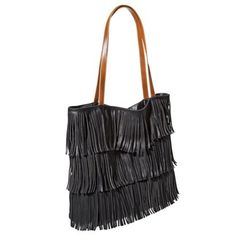 Black and brown fringe tote... perfect for all your beach accessories!