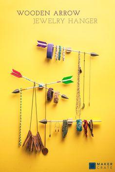 Wooden Arrow Jewelry Hanger | Maker Crate