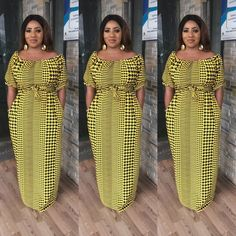 These ankara maxi dress styles are trending and has become a custom to most women who do not want to wear too tight or fitted dresses especially in heat periods and during pregnancy