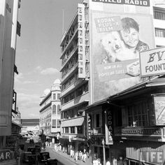 Heacock's Department Store on the Escolta Back In Time, Department Store, Vintage Pictures, Manila, Old Photos, Philippines, Times Square, Nostalgia, Travel
