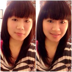 Long straight with full bangs...