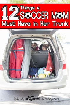 12 Things a Soccer Mom Must Have in Her Trunk. These are such great ideas of things to always have with you during soccer season. Funny read too! #sponsored #BODYARMOUR