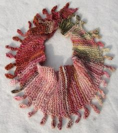 Mini-Shizuku -- try with beaded fringe around one edge instead of these bobbles