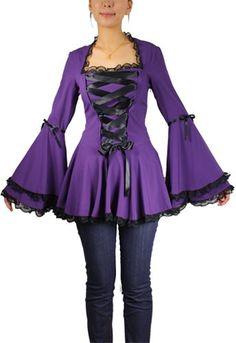 Chicstar // Sansa Ribbon Lace Top Purple