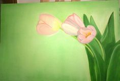 Tulips, Oil on stretched canvas
