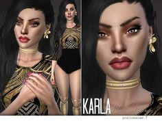 Karla Bailey by Pralinesims at TSR via Sims 4 Updates