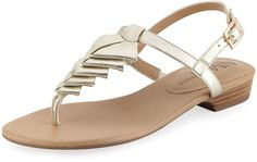 Shop Yerik Metallic Folded Leather Sandal, Platino from Neiman Marcus at Neiman Marcus Last Call, where you'll save as much as on designer fashions. Sandals Outfit, Shoes Sandals, Flats, Flat Sandals, Leather Sandals, Graduation Shoes, African Attire For Men, Womens Summer Shoes, Huaraches