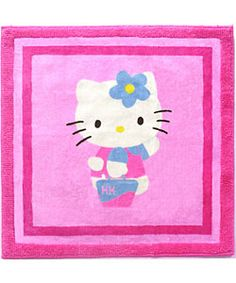 @Overstock - Make your girl happy with this Hello Kitty area rug  Rug features pink background with Hello Kitty on the front  Pink Hello Kitty rug is sure to brighten any girl's roomhttp://www.overstock.com/Bedding-Bath/Hello-Kitty-Shopper-Area-Rug-26-x-26/2607598/product.html?CID=214117 $14.99