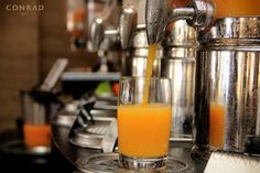 Get energized with a fresh cup of orange juice at Conrad Bali.