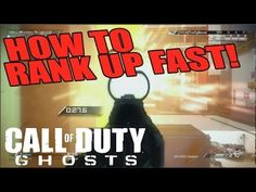 http://callofdutyforever.com/call-of-duty-tutorials/fastest-way-to-rank-up-in-call-of-duty-ghosts-tips-cranked-gameplay/ - Fastest Way to Rank Up In Call Of Duty Ghosts (Tips) Cranked Gameplay  Here are some tips on how to rank up quickly on COD Ghosts.  Definitely play Cranked game mode!  you get multiplier points and the games are very fast!  So in a 5 minute gameplay, not even a great game, i ended up getting 3700 points.  much faster than a domination or Kill confirmed g