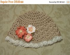 SALE Baby Girl Hat Easter Bonnet Spring Hat by dreamfancies
