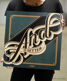 Lettering / Tipografia, por Martin Schmetzer - Inspi