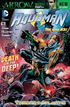 """Aquaman (2011-) #16  """"Throne of Atlantis"""" part 4, continued from JUSTICE LEAGUE #16. Torn between Ocean Master and the League, Aquaman is pushed toward an impossible choice! Continued in JUSTICE LEAGUE (2011- ) #17."""