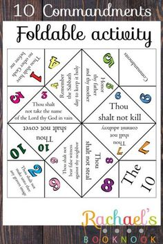 The 10 Commandments Cootie Catcher and Free Sunday School Printables on Frugal Coupon Living.