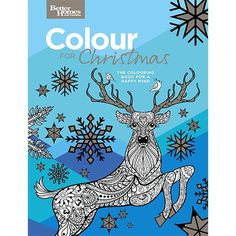 Better Homes & Gardens COLOUR FOR Christmas - Adult Colouring 30 Designs - NEW