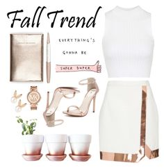 """""""Fall Jewelry Trend: Rose Gold"""" by unicarrot ❤ liked on Polyvore featuring мода, Michael Kors, Swarovski, Windsor Smith, Thierry Mugler, Aamaya by priyanka, Topshop и rosegold"""