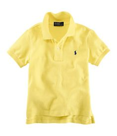 Ralph Lauren Boys Polo- Yellow. Matthew could look really good in yellow.