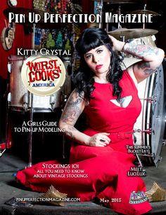 Yum yum, we have got some tasty treats for you! In this issue we have Kitty Crystal from Worst Cooks in America (on Food Network) she tells us about her experience on the show and a bit about her modeling. Rowdy LeBeau shows us how to mix up a tasty drink for summer. And we get a low down on everything you'd ever need to know about vintage stockings and their care. All that plus more oh ya, and those pin ups you love so much! Get your copy on http://www.magcloud.com/browse/issue/578214