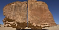 It Looks Like a Laser Cut But What Really Split the Ancient Al Naslaa Rock?