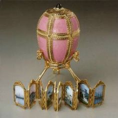 """""""Danish Palaces Egg"""" ~ 1890  *With miniatures"""