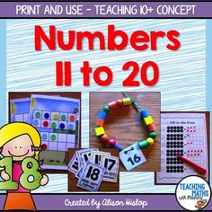 Teen Numbers - Activities and Games: Included are 30 pages of activities, games and worksheet that take children's learning past the number 10 to 20. Hands on activities and flashcards are included as well as suggestions on how to use each resource.
