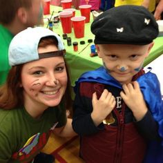 Janine Patton and child at Thon