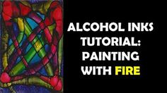 painting on wood with alcohol inks - YouTube