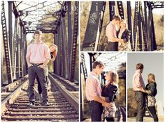 Railroad Engagement shoot  Pacollier Photography
