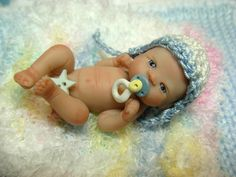 Miniature Polymer Clay Baby