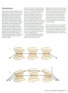 How to tie springs