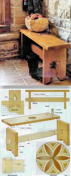 Bench Seat  Plans - Furniture Plans and Projects   WoodArchivist.com #woodworkingprojects #woodworkingbench