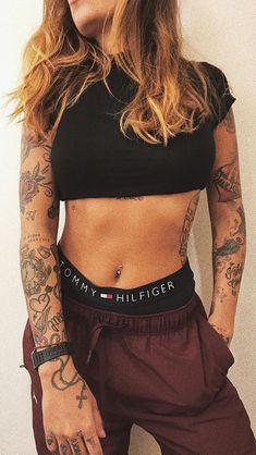 I love it – Hot girls with sexy tattoos … - New Tattoo Models Sexy Tattoos, Badass Tattoos, Body Art Tattoos, Sleeve Tattoos, Tattoos For Women, Tattoo Sleeves, Rock Tattoo, Tattoo Henna, Forearm Tattoos