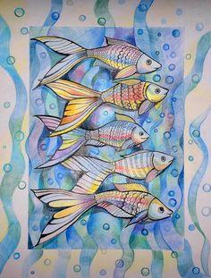 Намаконова Евгения. Рыбки (триптих)