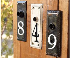 Like this idea for house numbers