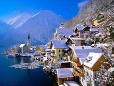 #Winter #Hallstatt #Austria