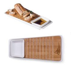 The Marimba is more than just a bread cutting board and spread set. It's a restock the appetizers/carry extra drinks/presentation/save on cleanup so you can enjoy the game with your friends workhorse.