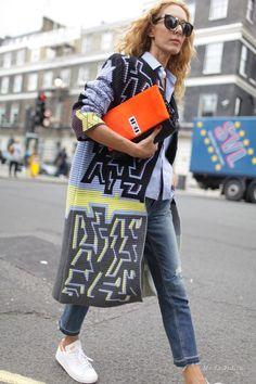 Уличная мода: Неделя моды в Лондоне весна-лето 2015: уличный стиль