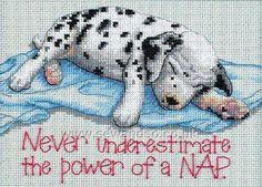 Buy Power Nap Cross Stitch Kit Online at www.sewandso.co.uk
