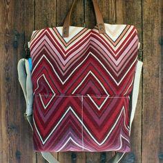 Crossbody Tablet bag Zig Zag Leather Handle, Zig Zag, Woven Fabric, Tote Bag, Shop, Handmade, Bags, Handbags, Hand Made