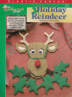Holiday Reindeer Plastic Canvas Pattern by needlecraftsupershop, $4.99