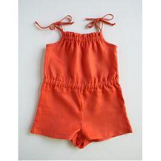 Free pattern: Girls summer romper