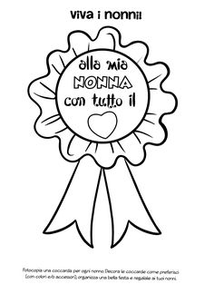 La maestra Linda: Festa dei nonni Paper Crafts For Kids, All Kids, Grandparents, Paper Cutting, Diy, Michelangelo, Outfit, Dates, Classroom