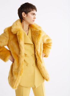 When I find something I want, I save it to Shoptagr! Tweed, Fur Coat, Tights, Beige, Sweatshirts, Sleeves, Sweaters, Jackets, Stuff To Buy