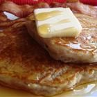 Applesauce pancakes: we all liked the spiciness the cinnamon adds.