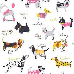 Its a Dogs Life Dog Wallpaper in Multicolour by Coloroll M1037