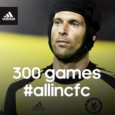 Tip of the cap to Petr Čech at Stamford Bridge today! 300 games for @Chelsea Rose FC! Always #allincfc